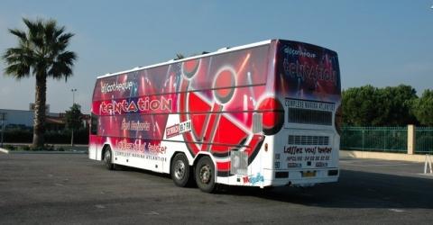 marquage bus TENTATION