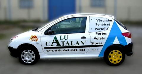 Marquage automobile catalan alu