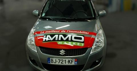 Flocage voiture immo market