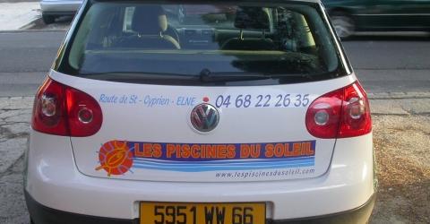 Publicité adhésive automobile